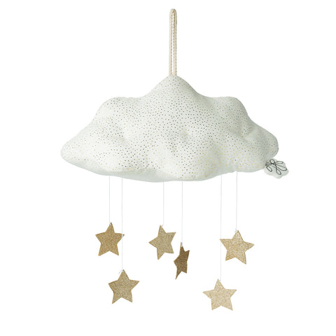 Picca Loulou - Cloud Corduroy white with stars (34cm)