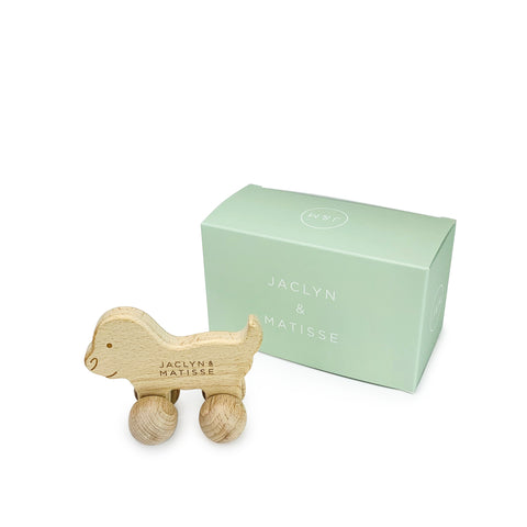 Jaclyn & Matisse - Doug the Dog (Wooden Push-a-long Toy) - 2 sizes