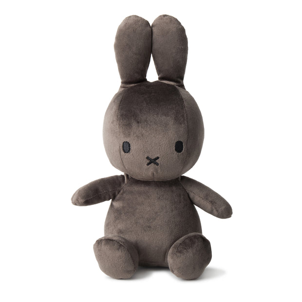 Miffy Plush - Miffy Sitting Velvetine Dark Grey (23cm)