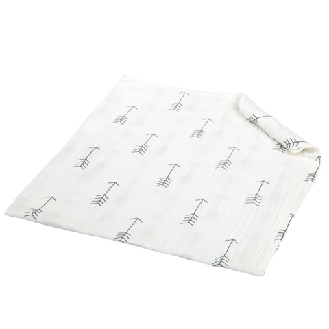100% Organic Cotton Muslin Swaddle Blankets - ARROWS