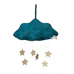 Picca Loulou - Cloud Corduroy blue with stars (34cm)