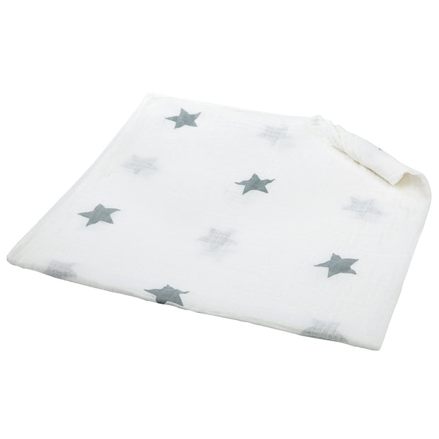 100% Organic Cotton Muslin Swaddle Blankets - SOLID STAR