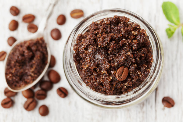 Quick.  Simple.  Coffee Peppermint Scrub