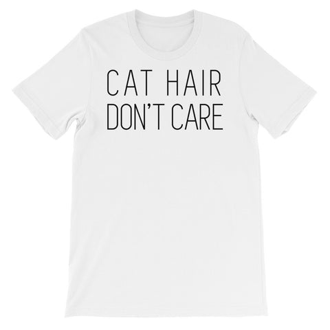 Cat hair short sleeve unisex t-shirt AU