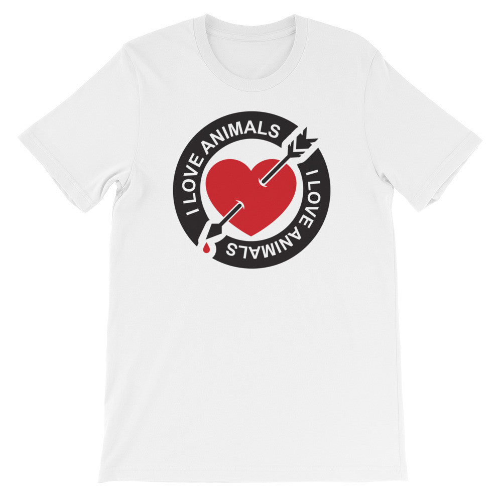 I love animals short sleeve unisex t-shirt AU