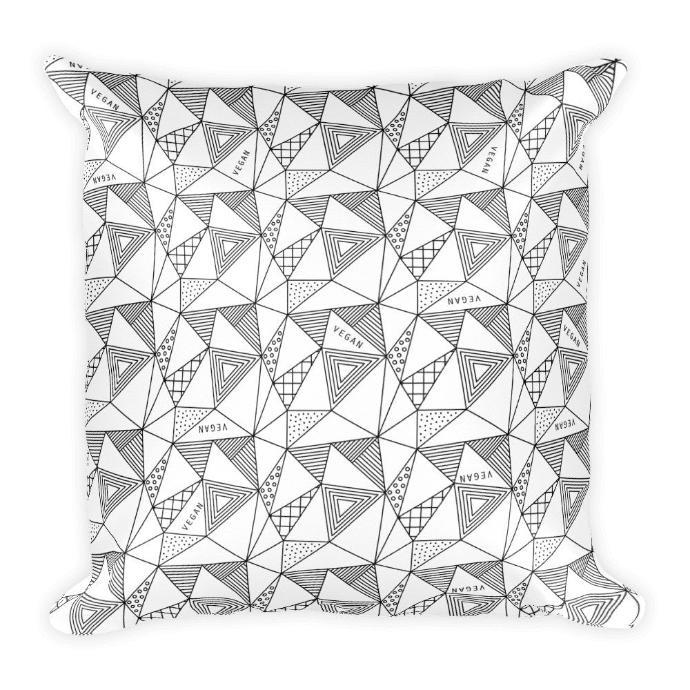 Geo vegan square pillow