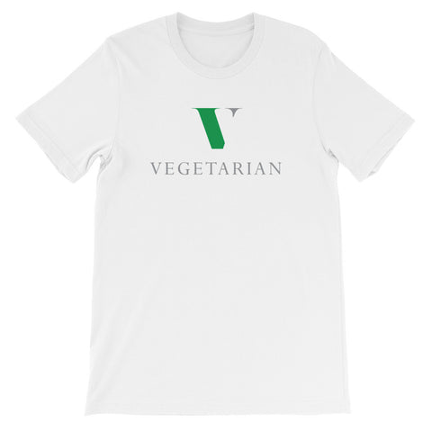Vegetarian green and gray short sleeve t-shirt VU