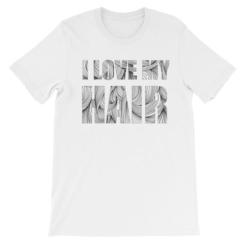I love my hair short sleeve ladies t-shirt NF