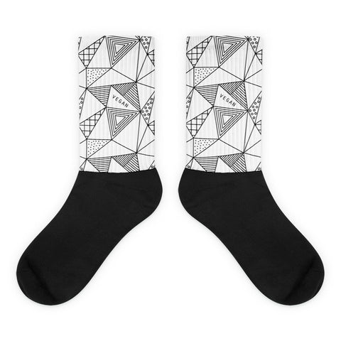 Geo vegan black foot socks
