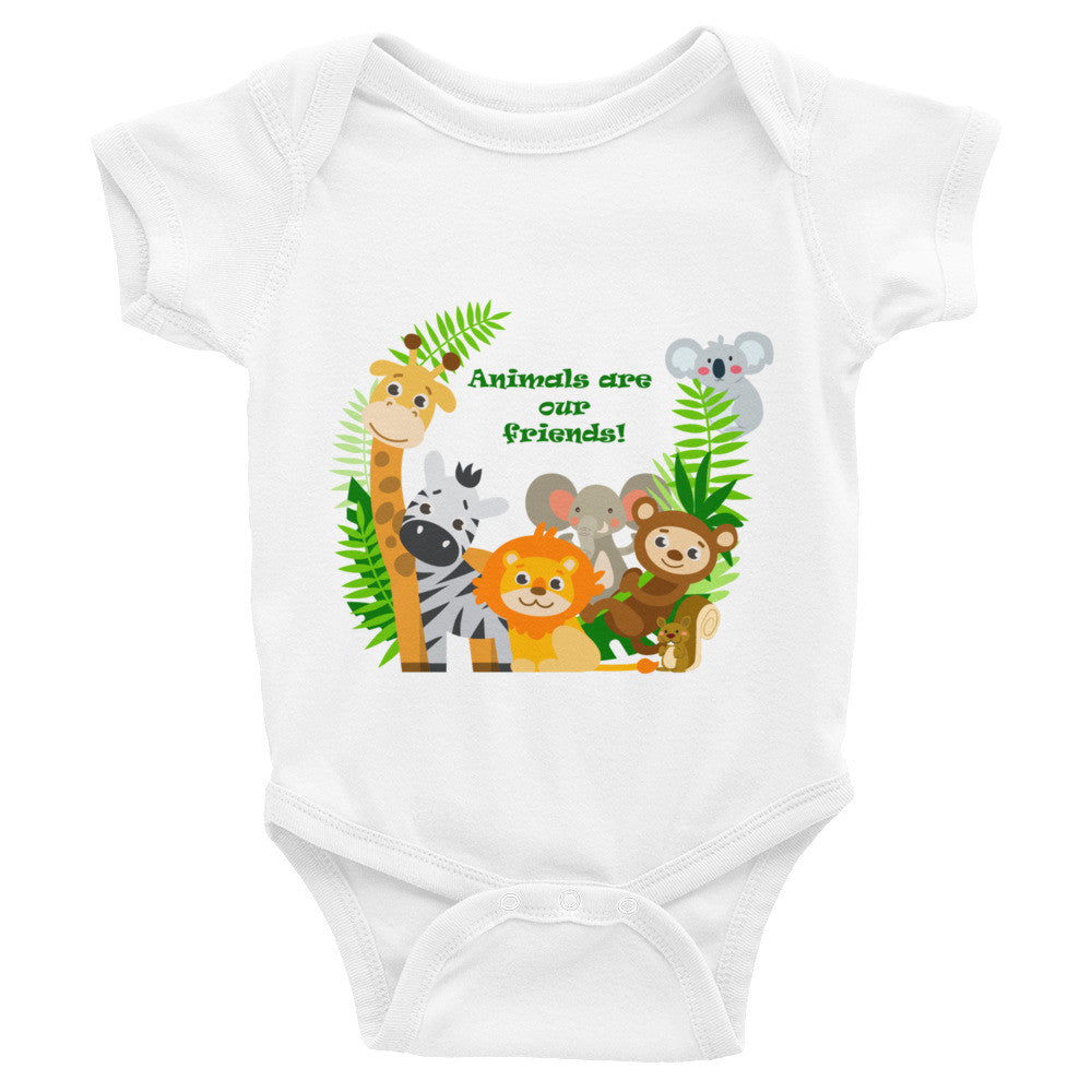Animals are our friends infant bodysuit