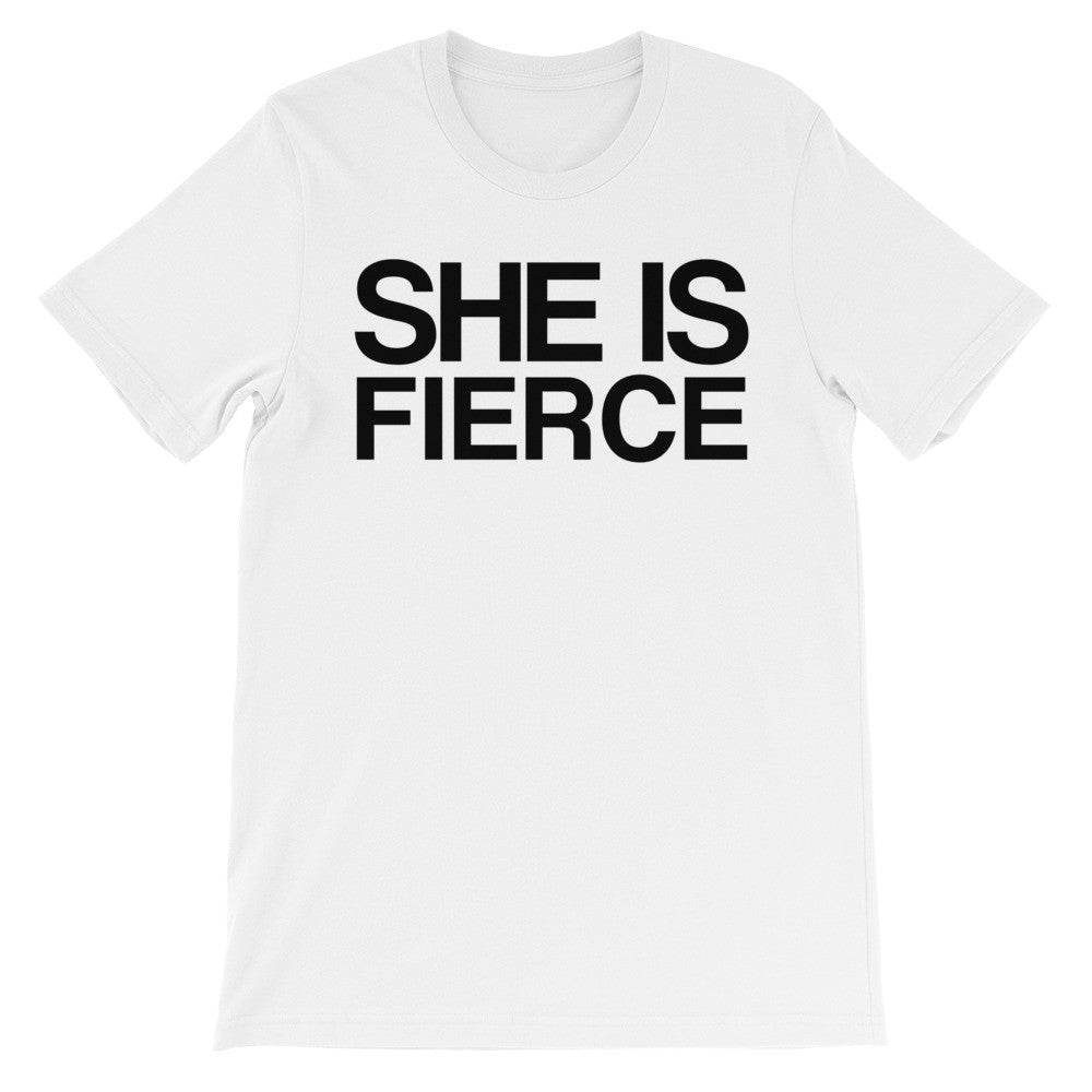 She is fierce short sleeve t-shirt EF