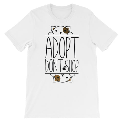 Adopt don't shop short sleeve t-shirt AU