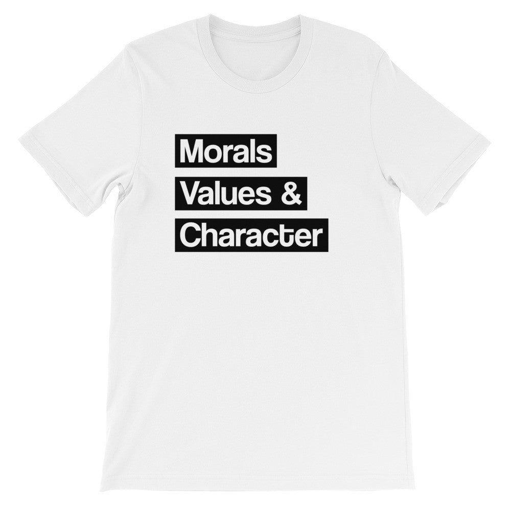 Moral Values and character short sleeve t-shirt EU