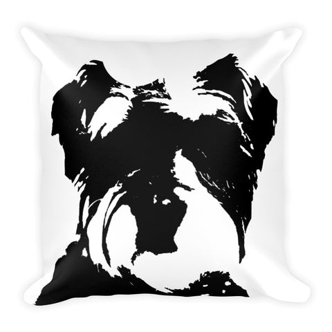 Puppy love square pillow