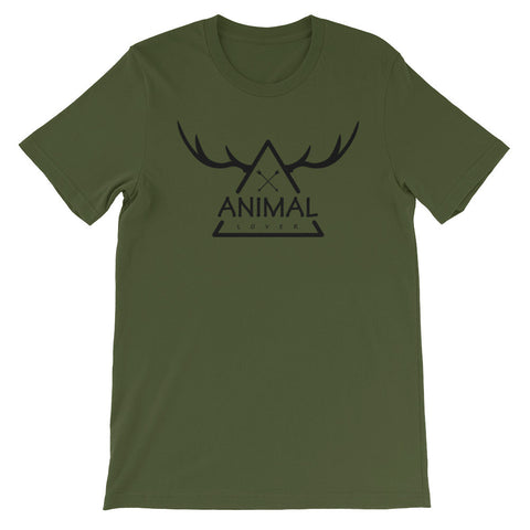 Animal lover triangle short sleeve male t-shirt AM