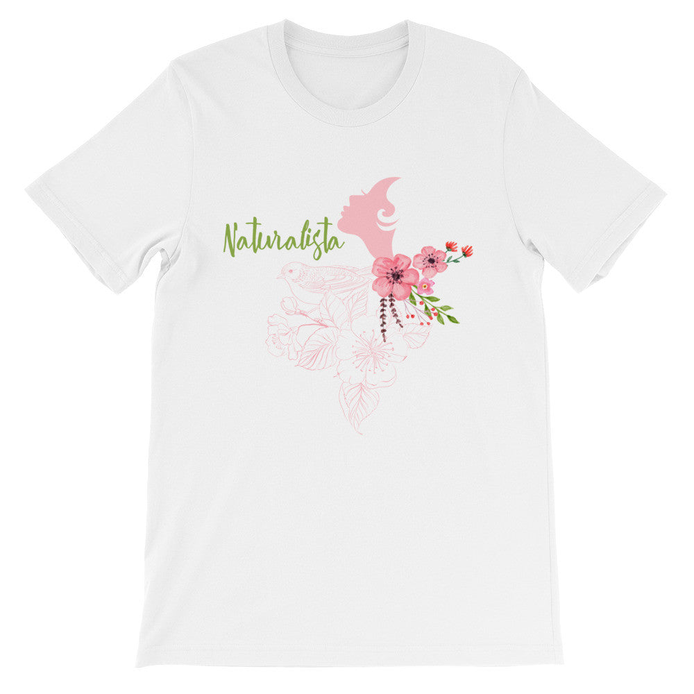 Naturalista pink face short sleeve ladies t-shirt NF