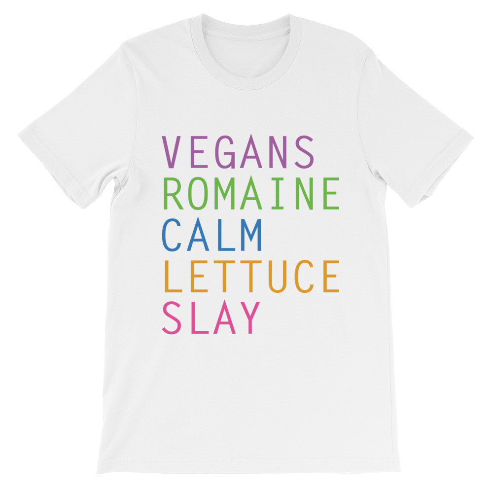 Vegans romaine calm lettuce slay short sleeve ladies t-shirt VF