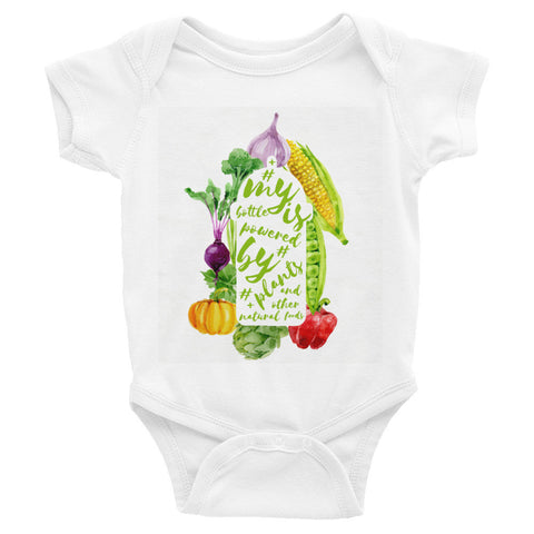 My bottle is powered by plants infant bodysuit