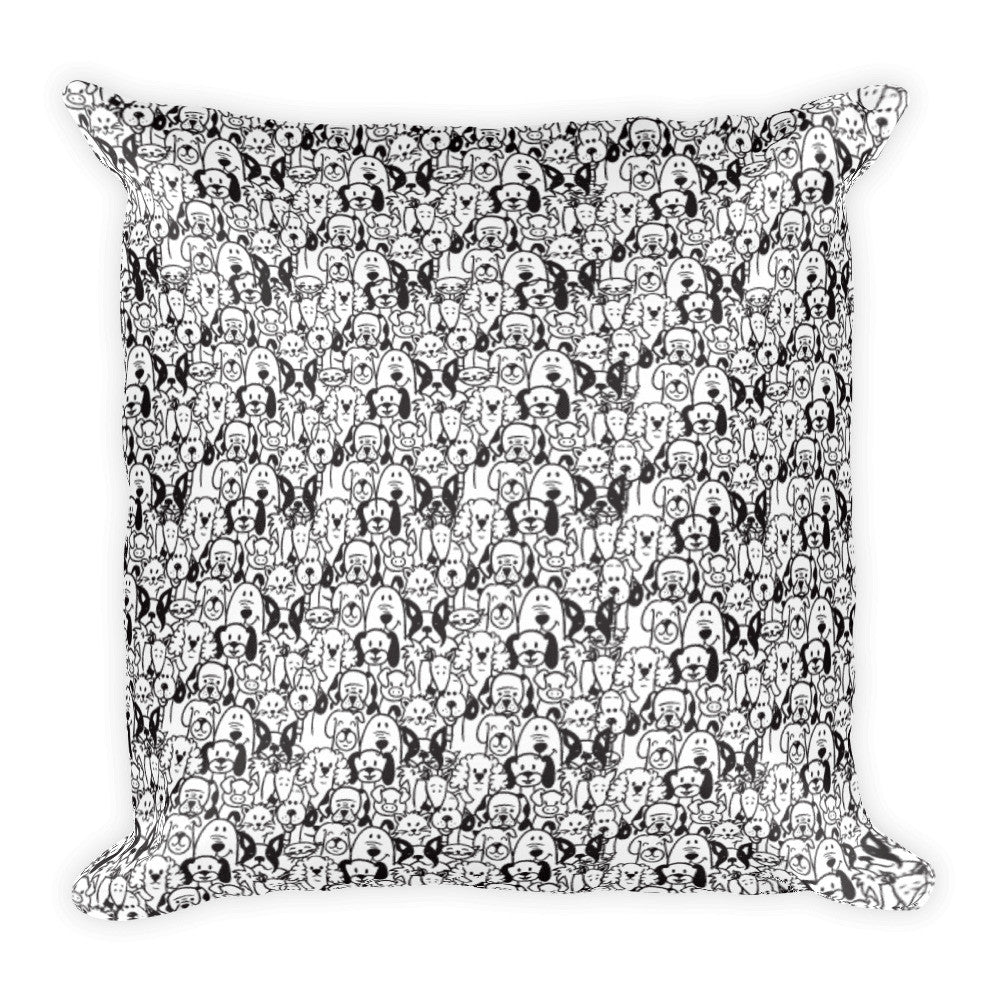 Dog lover square pillow