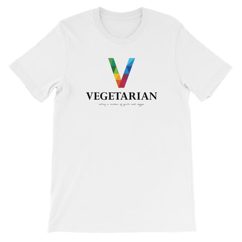 Vegetarian Rainbow  short sleeve t-shirt VU