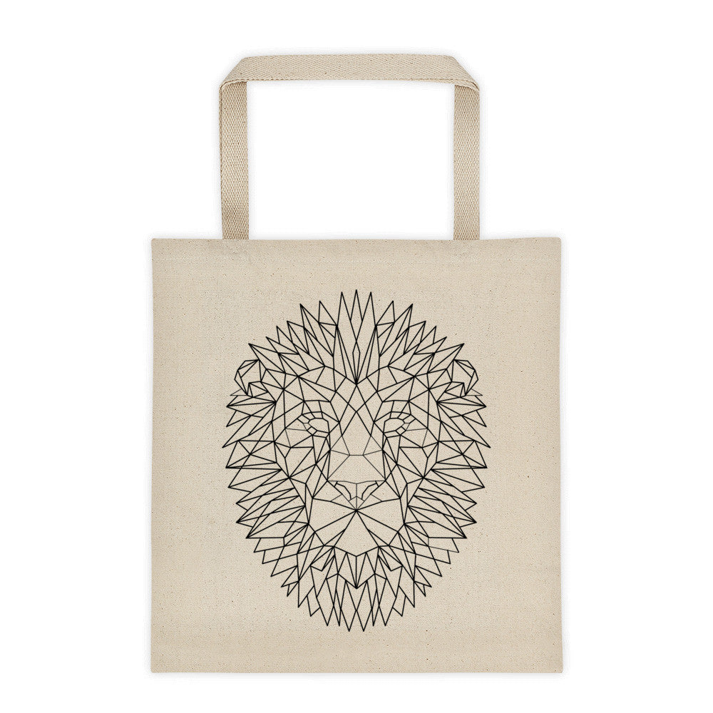 Lion face tote bag