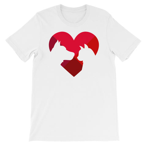 Animal lover heart short sleeve t-shirt AU