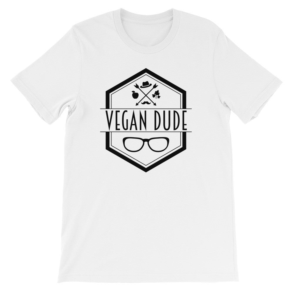 Vegan dude short sleeve male t-shirt