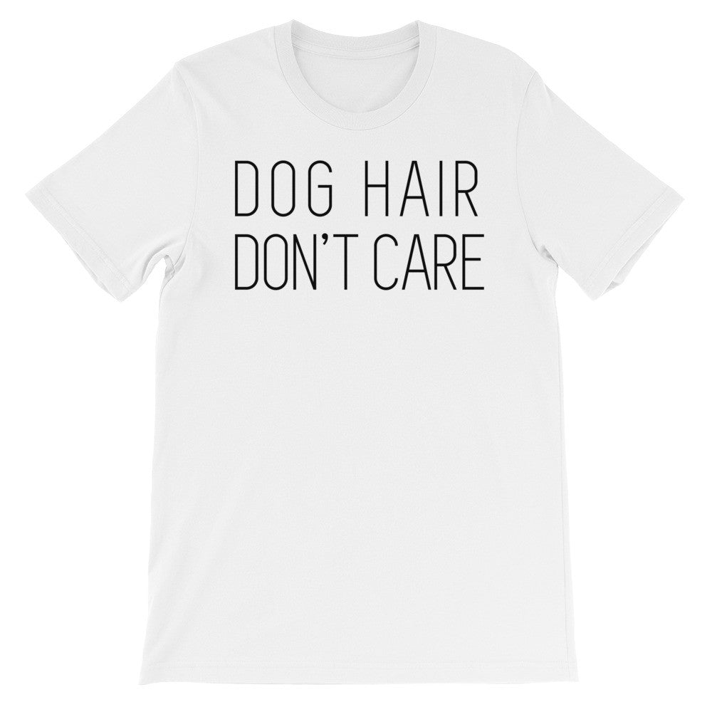 Dog hair short sleeve unisex t-shirt AU