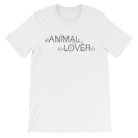 Animal lover origami short sleeve t-shirt AU