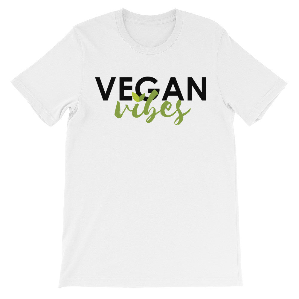 Vegan vibes leaf short sleeve unisex t-shirt VU