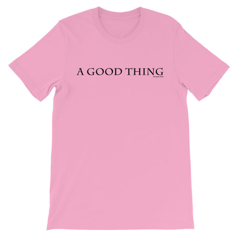 A good thing Proverbs 18:22 short sleeve t-shirt EF