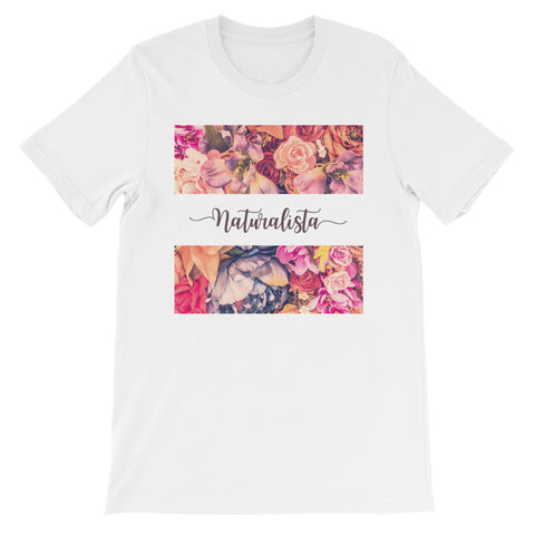 Naturalista flower rectangle short sleeve ladies t-shirt NF