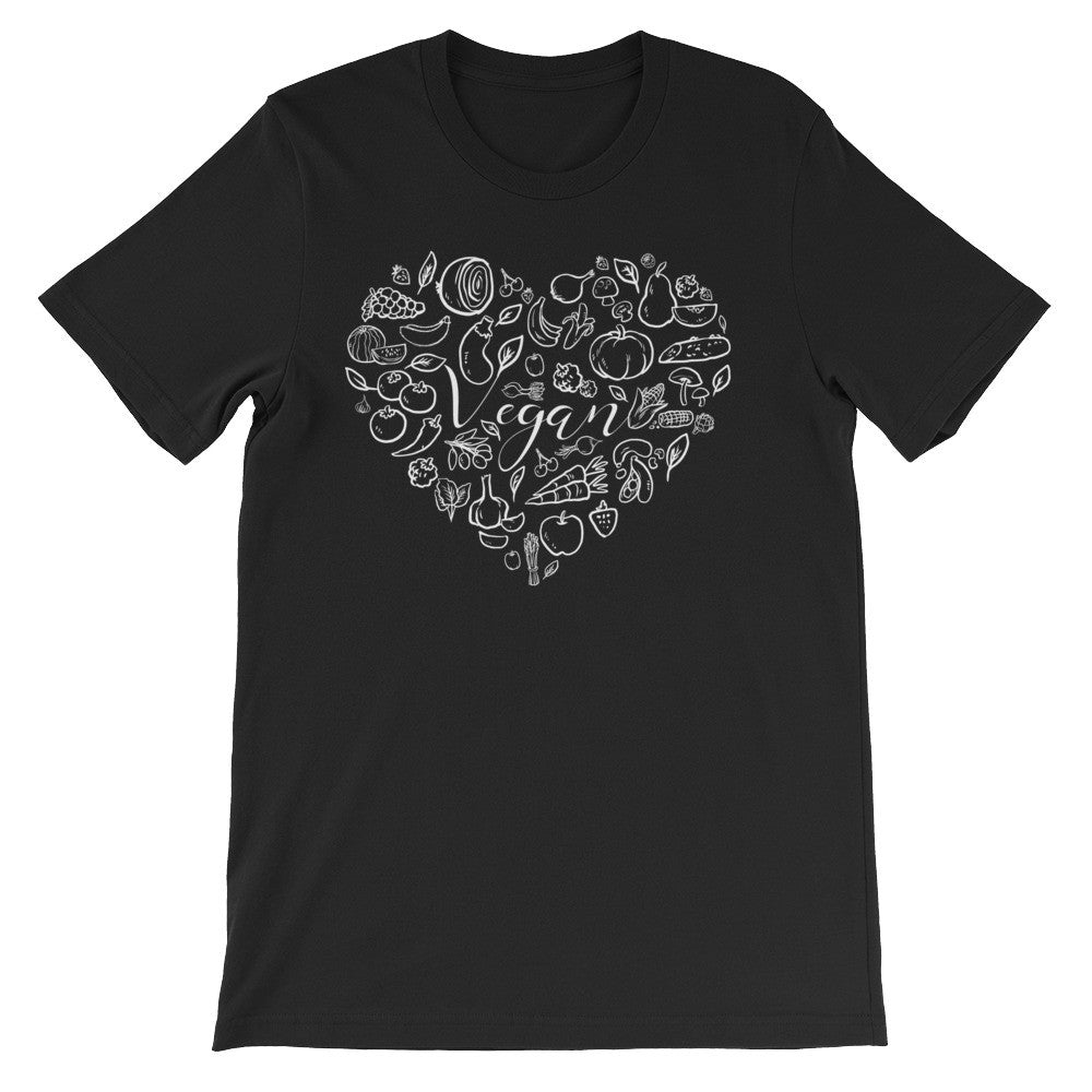 Vegan love short sleeve unisex t-shirt VU