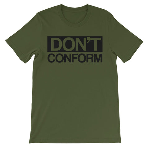 Don't conform short sleeve unisex t-shirt EU