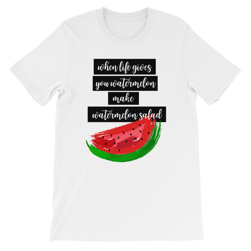 Watermelon salad short sleeve ladies t-shirt VF
