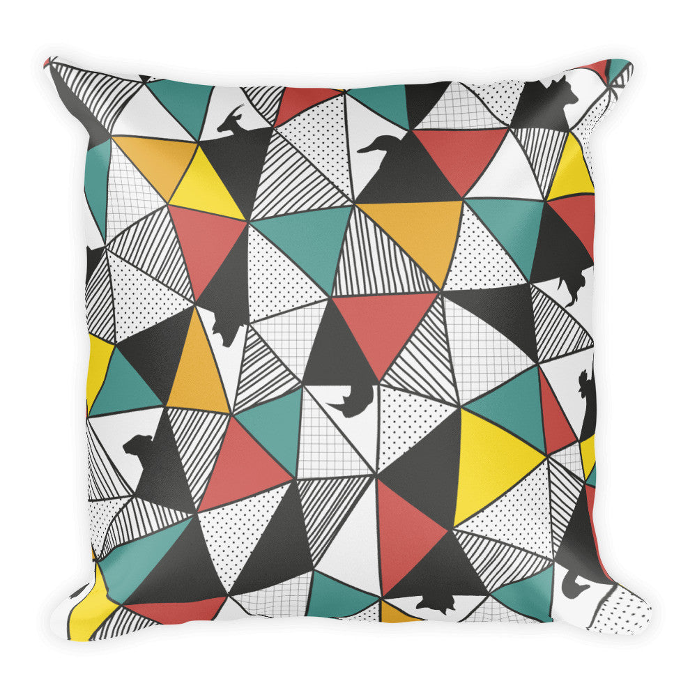 Triangle animal square pillow