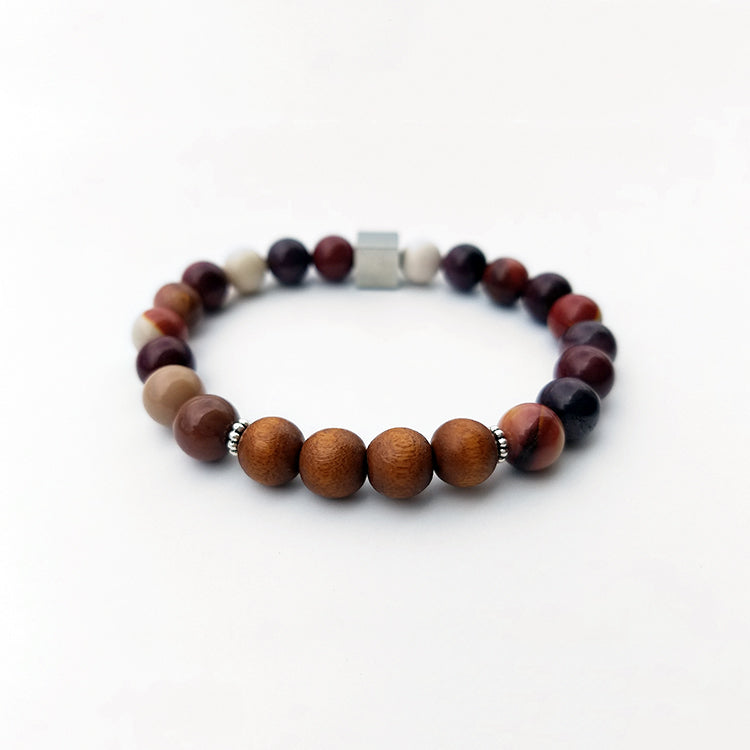 collection genuine rainforest bracelet jasper stretch beadage mala shop bracelets rhyolite