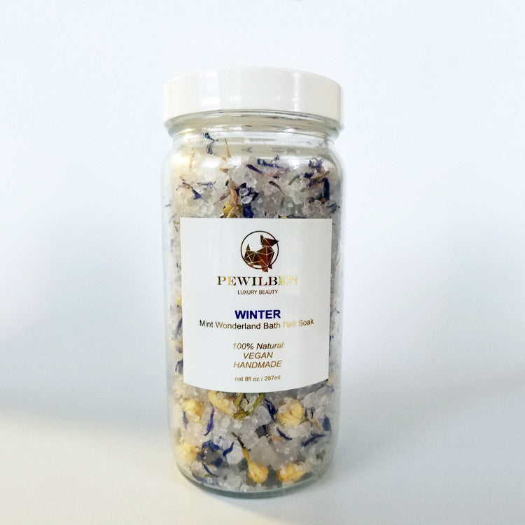 Mint wonderland Bath Salt Soak (Winter) 8oz
