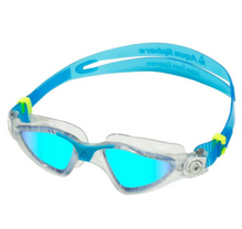 Load image into Gallery viewer, Aqua Sphere Kayenne Blue Titanium Mirrored Goggles - Clear/ Turquoise