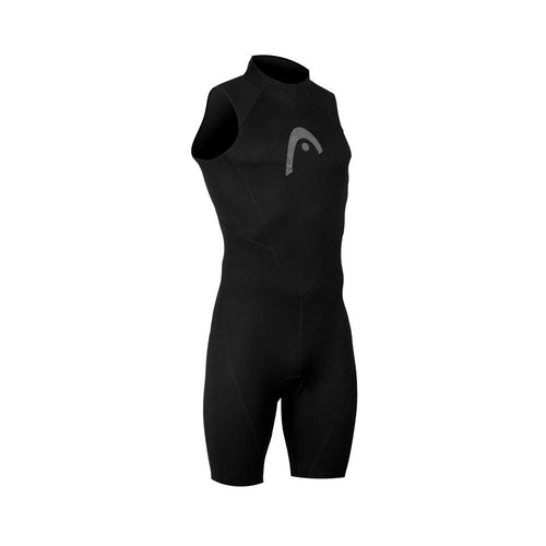 HEAD Multix Shorty Watersports  Sleeveless Wetsuit Mens - Black/ Lime - Tri Wetsuit Hire