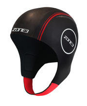 Load image into Gallery viewer, Zone3 Neoprene Swimming Cap- Black silver - Tri Wetsuit Hire