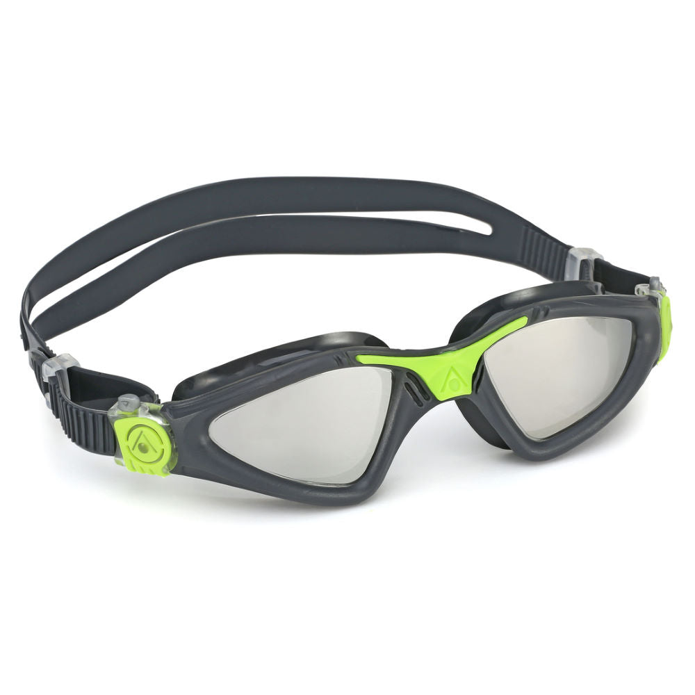 Aqua Sphere Kayenne Goggles Mirrored Lens - Black Green - Tri Wetsuit Hire