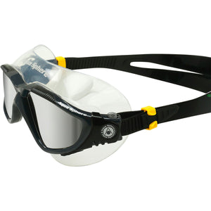 Aqua Sphere Vista Goggles Dark Grey Mirrored Silver - Tri Wetsuit Hire