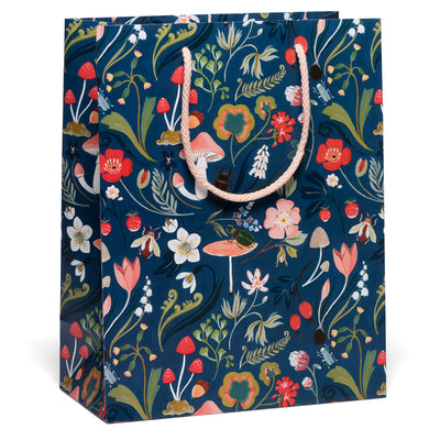 Forest Blue Gift Bag Red Cap Cards