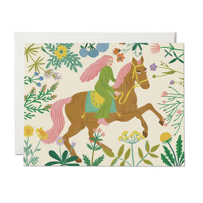 Horse Child Card Red Cap Cards
