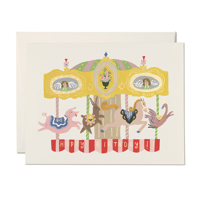 Merry Go Round Birthday Card Red Cap Cards