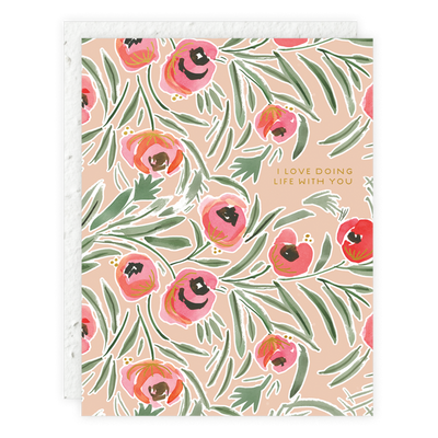 Misha Floral Card Seedlings