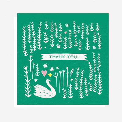 Swan Thank You Card The Printed Peanut