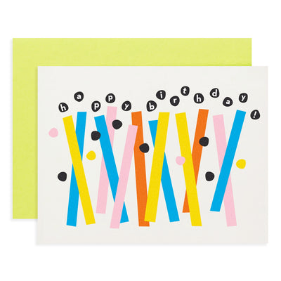 Happy Birthday Abstract Candles Card My Darlin'
