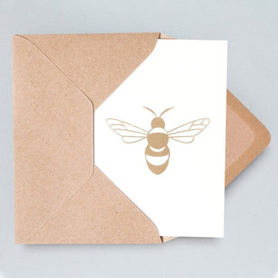Foil Blocked Bee Card Ola